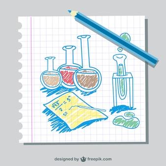 Tubi scienza vettore di doodle