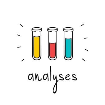 Tubi vettoriali per analisi.