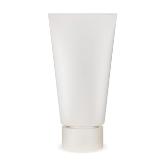 Tubo bianco crema. pacchetto cosmetico realistico