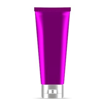 Tubo cosmetico crema o unguento viola. realistico