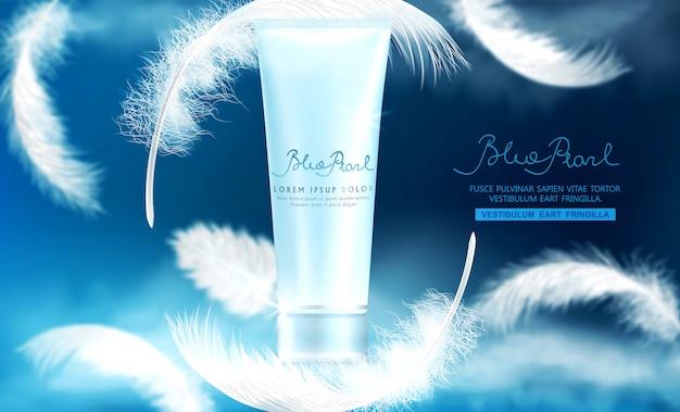 Tubo di plastica realistico con crema