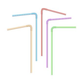 Tubuli colorati realistici per bevande.