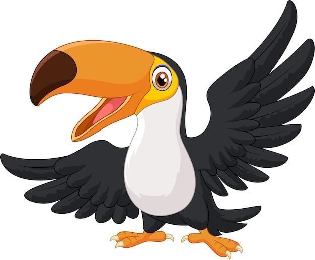 Tucano felice uccello dei cartoni animati