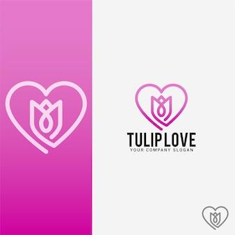 Tulip love logo