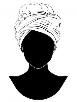 Turbante stile africano
