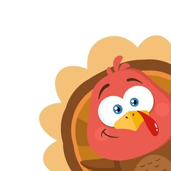 Turchia bird cartoon character sventolando da un angolo