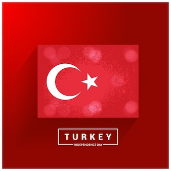 Turchia independence day paese glowing bandiera