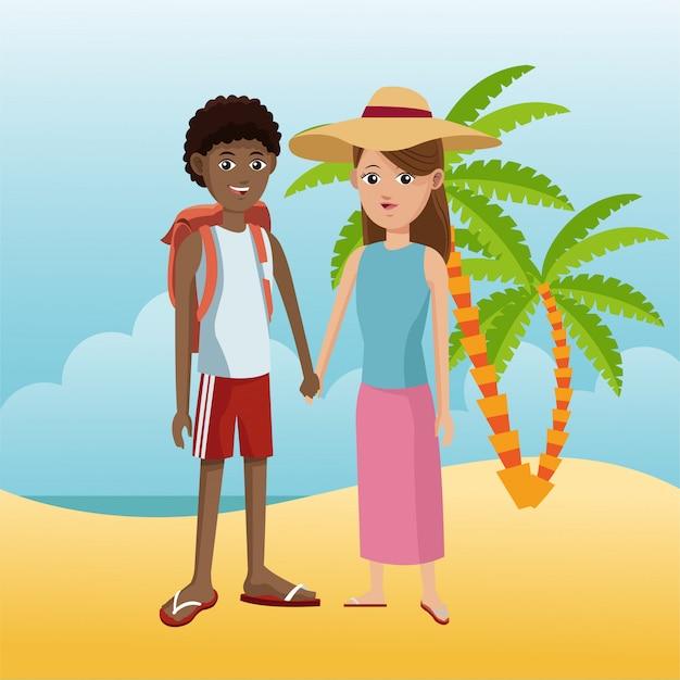 Turista in spiaggia
