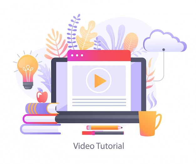 Tutorial video per l'educazione online.