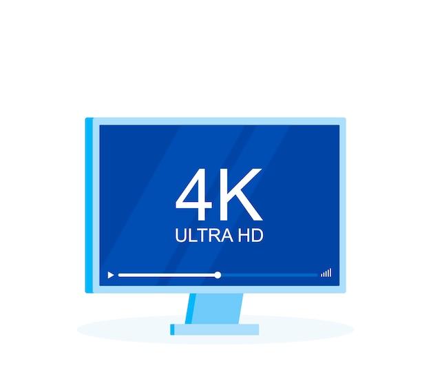 Tv a schermo piatto con tecnologia video 4k ultra hd
