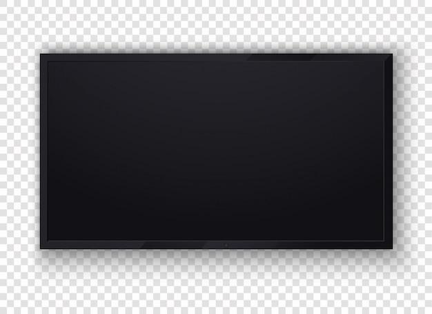 Tv digitale, moderno schermo lcd vuoto, display, pannello.