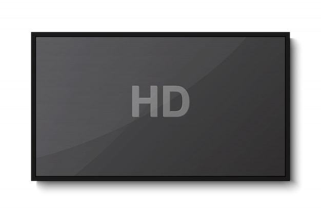 Tv, schermo vuoto moderno