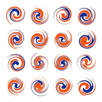 Twister shape design element vector set