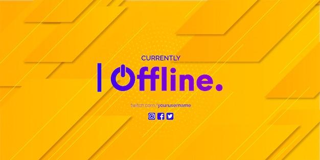Twitch banner design con modello di sfondo astratto