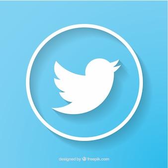 Twitter social network icone vettoriali