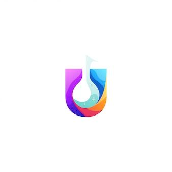 U logo design dell'acqua