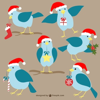 Uccelli di natale cartoni animati