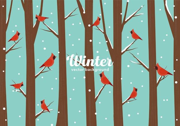 Uccelli invernali