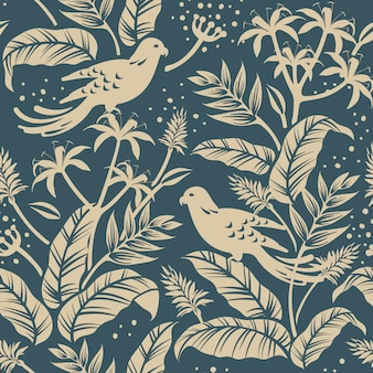 Uccelli nel design della natura
