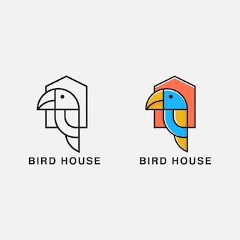 Uccello ithe gabbia logo uccello