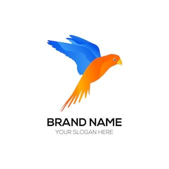 Uccello logo design vettoriale