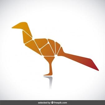 Uccello silhouette fatta con i poligoni