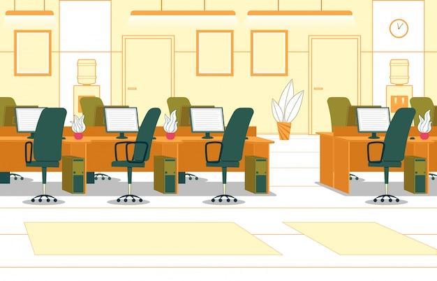 Ufficio aperto interno di affari.