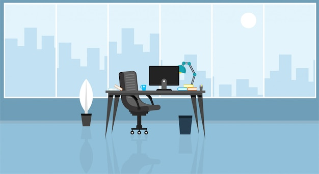 Ufficio di apprendimento e insegnamento per lavorare utilizzando un programma di progettazione illustrazione vettoriale