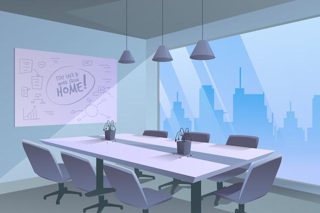Ufficio vuoto a causa della pandemia