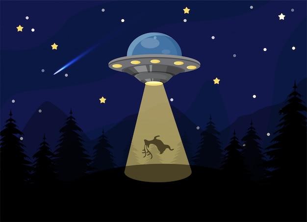 Ufo rapisce creature sulla terra