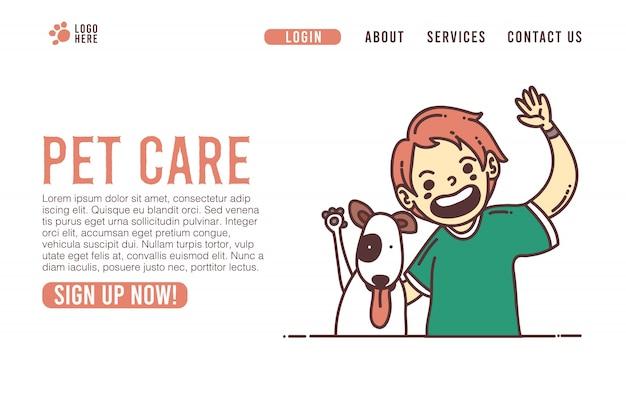 Ui della pagina web della casa veterinaria di cura degli animali domestici