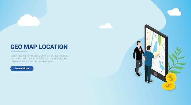 Ui di pagina di destinazione del design del sito per un uomo