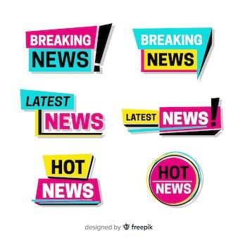 Ultima raccolta di banner di notizie