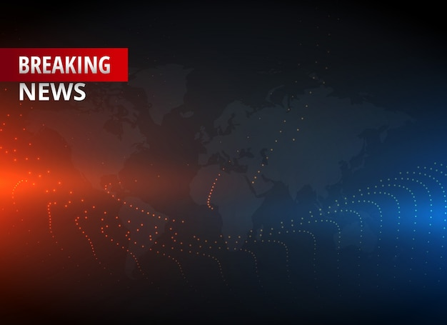 Ultime notizie concept design grafico per canali di notizie tv
