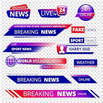 Ultime notizie. servizio di trasmissione di canali televisivi