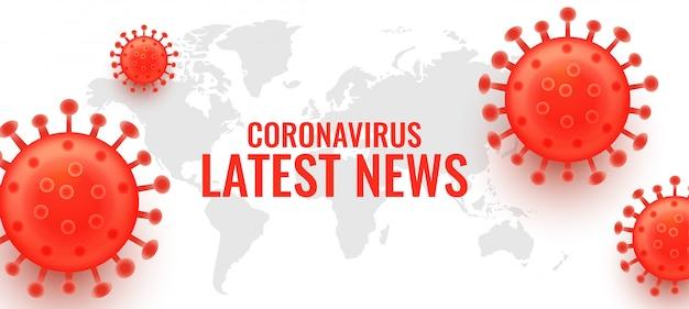 Ultime notizie sul nuovo banner di concetto di coronavirus covid-19