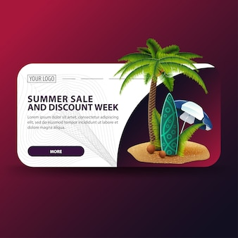 Ummer sale e discount week, banner orizzontale dal design moderno