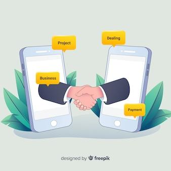 Un accordo di affari