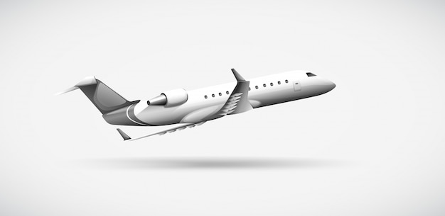 Un aereo che viaggia
