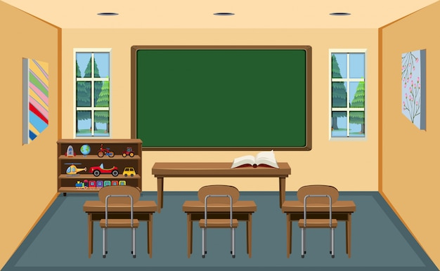 Un'aula vuota interna