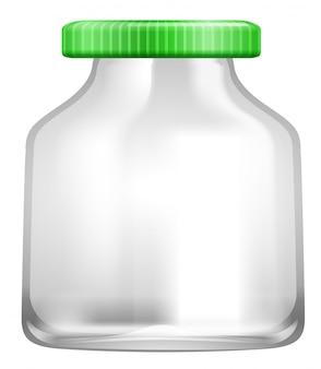 Un barattolo di vetro trasparente