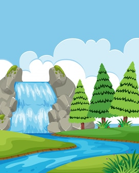 Un bellissimo paesaggio di cascata