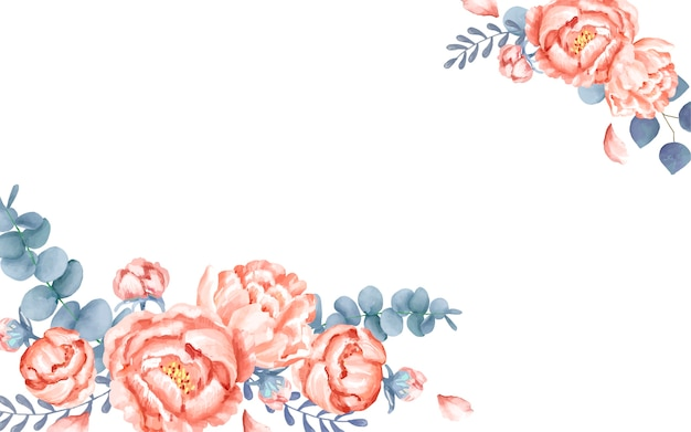 Un biglietto di auguri bianco con decorazione floreale