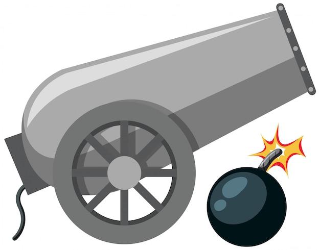 Un cannone isolato