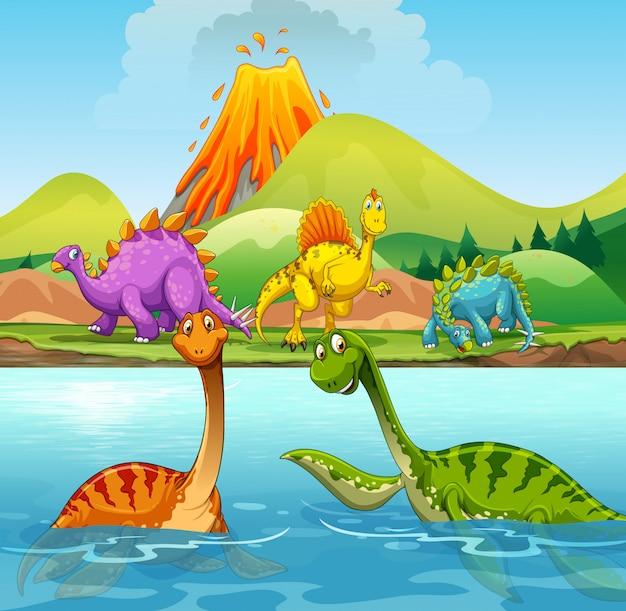 Un cartone animato di dinosauri