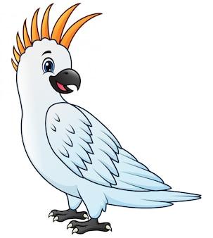 Un cartone animato di uccello pappagallo