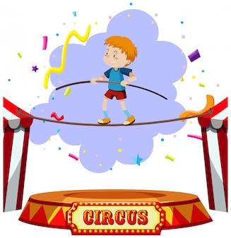 Un circo a tema tightrope boy