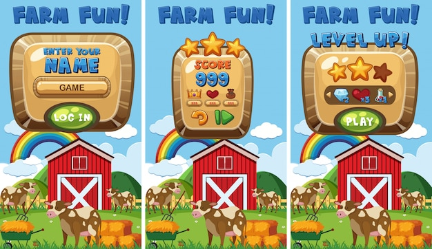 Un concetto di gioco di fattoria
