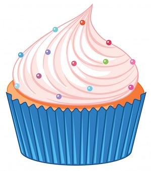 Un cupcake isolato