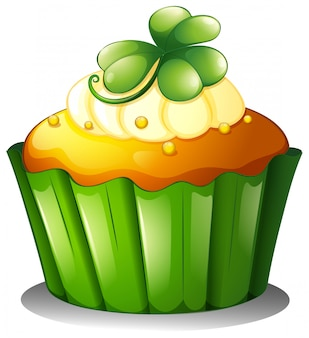 Un cupcake per il giorno di san patrizio